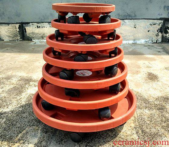 Flower pot pad mobile wheel pot pot tray pulleys base universal belting leather wheel pot tray Flower POTS chassis