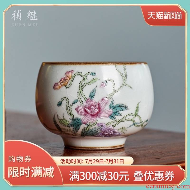 Shot incarnate your up hand - made slicing can raise of jingdezhen ceramic cups kung fu tea set sample tea cup master cup single CPU