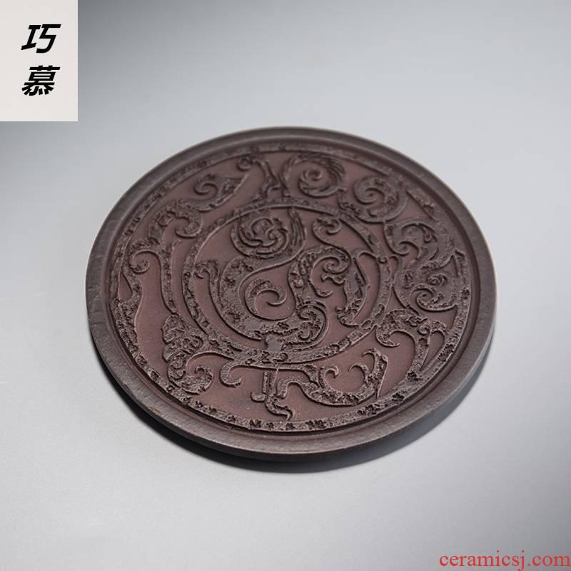 Qiao MuMing royal porcelain teacup pad pot pad insulation pad tea cup tea table cloth art kung fu tea accessories