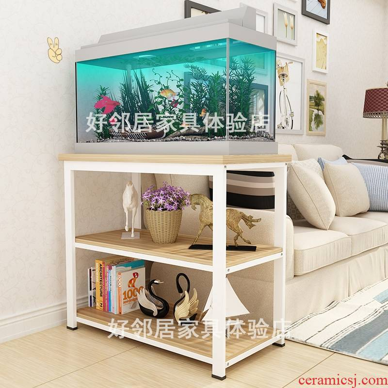 Put aquarium frame, wrought iron bottom ark of multi - layer of aluminum alloy, stainless steel cabinet small home aquatic animals box base