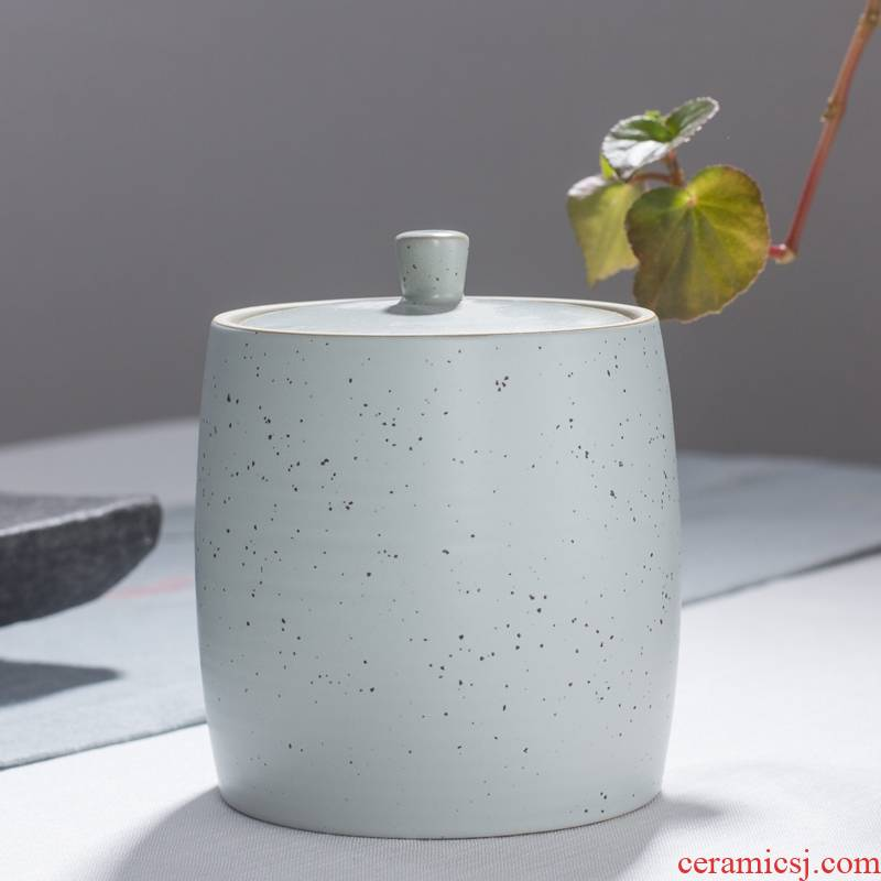 Qiao mu diffuse carving time coarse pottery caddy fixings ceramics medium sealed jar general Japanese storage tanks gift box packaging