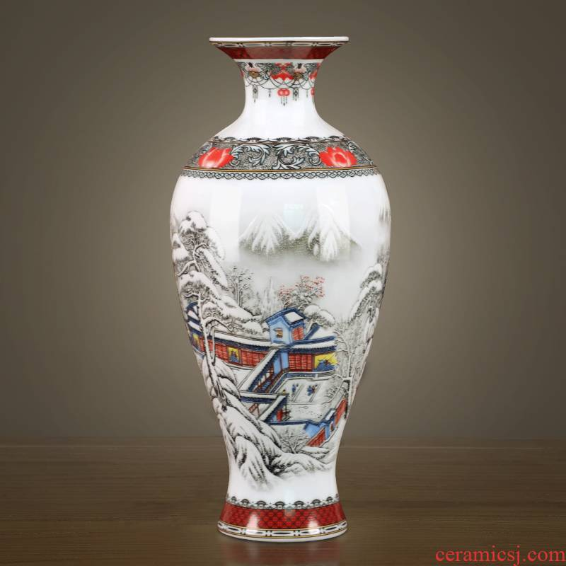 Jingdezhen ceramic vase office furnishing articles sitting room put dried flowers web celebrity porcelain home decoration package mail at home