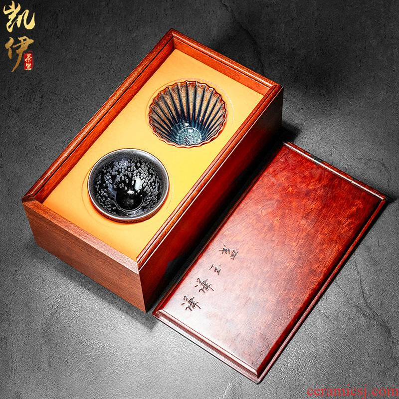 Gao Shaoxiong built lamp box for a cup of tea cup masters cup up tire iron ceramic sample tea cup, cup of kung fu tea cups