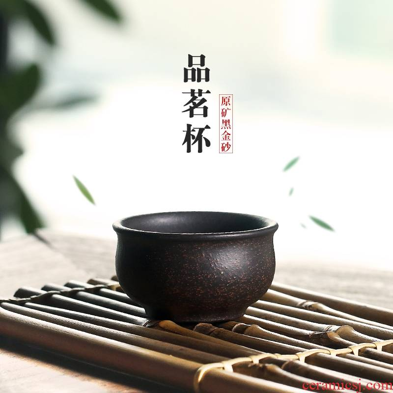 Qiao mu YH yixing purple sand cup master cup black gold sand sample tea cup individual cup with single pot of small cup