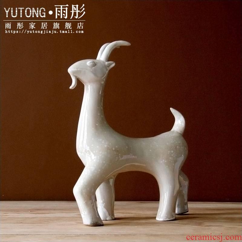 Creative manual its kilns ceramic zodiac is sheep sheep handicraft furnishing articles furnishing articles porcelain decoration