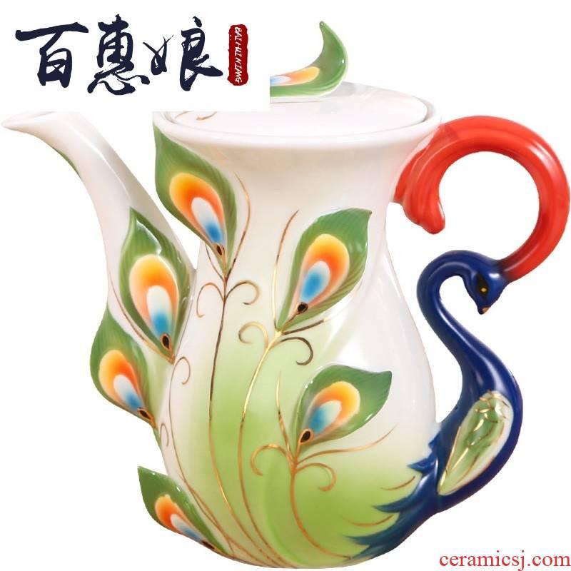 (niang creative ceramic hand coffee pot hotel continental red tea scented tea ipads China. English afternoon tea