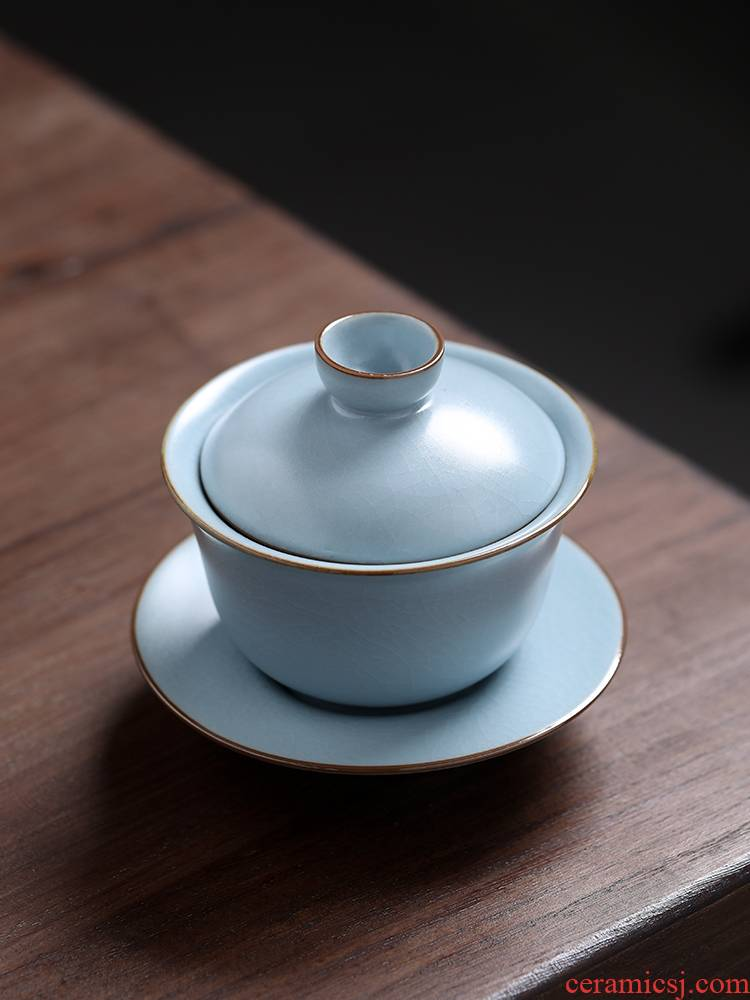Your up tureen tea bowl with cover individual worship ceramic tea bowl hand grasp pot of kung fu tea set three tureen