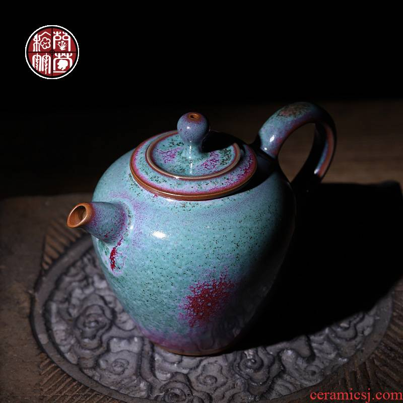 Jin jun porcelain teapot with a single one hand to restore ancient ways variable kung fu tea set single pot ball hole of the tea pot