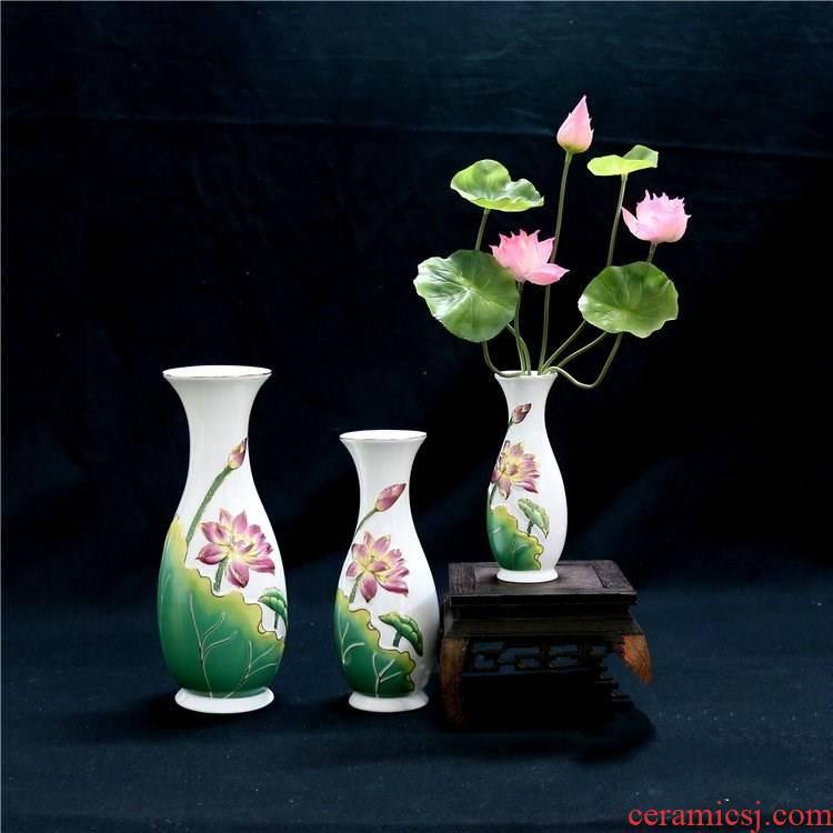 Buddha with a mini guanyin temple lotus flower vase for dried flowers made Buddha Buddha forward mini ceramic net bottles