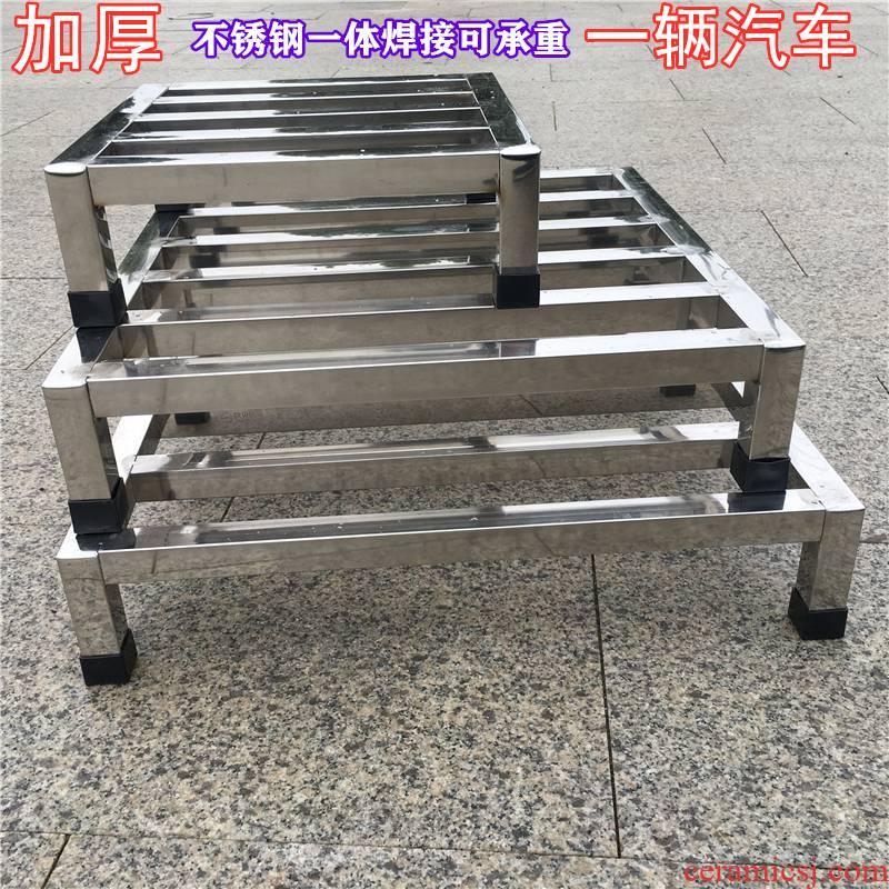 Can be customized stainless steel shelf flower gas cylinder bracket kitchen toilet landing stents washing machine base