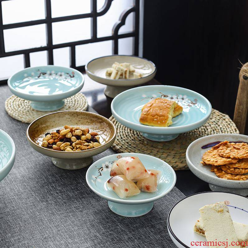 Compote Japanese ceramic tea set home sweet snacks Compote creative cold dish dish fastfood tray tableware