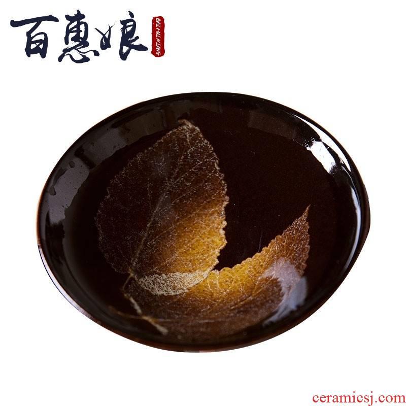 (niang konoha light tea sets jizhou up noggin kung fu tea cups ceramic bowl is built manually
