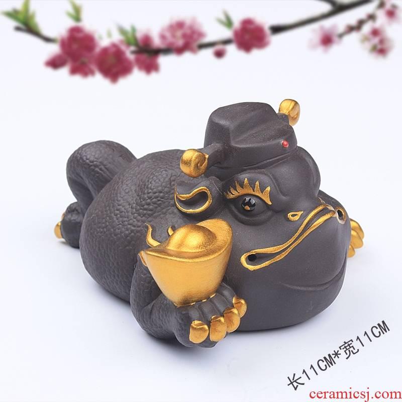 Qiao mu purple sand tea pets play creative furnishing articles furnishing articles a thriving business tea products have kung fu tea taking an on - board ceramics