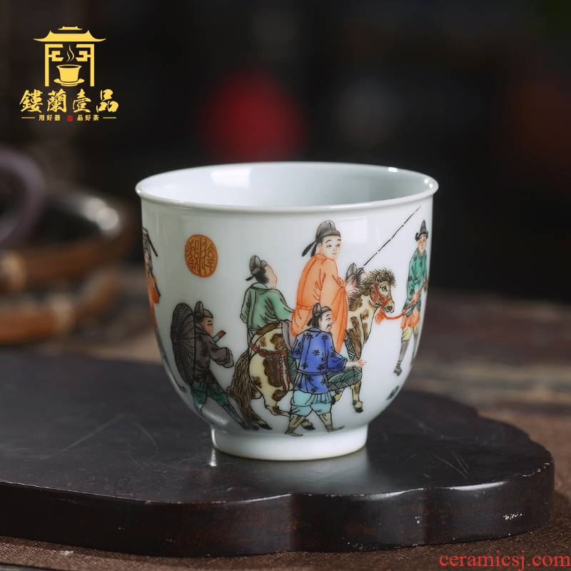 Jingdezhen ceramic hand - made colors all newest spring outing figure masters cup kung fu tea cup personal cup sample tea cup