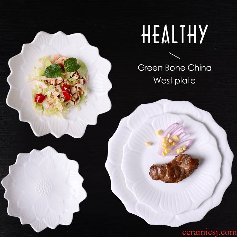 Ceramic plate household food of disc hotel breakfast dish plate all the dinner plate cake salad fruit bowl