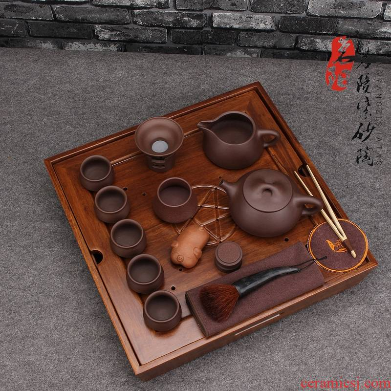Qiao mu MY yixing it pure manual undressed ore famous stone gourd ladle pot of home of kung fu suit the teapot tea consolidation