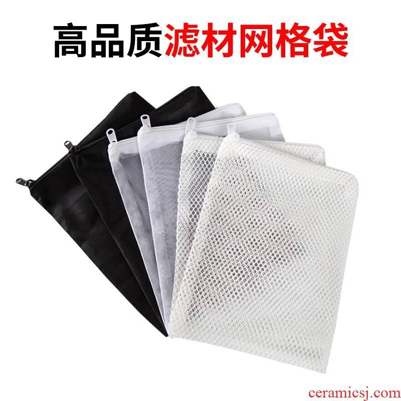 Aquarium filter mesh bag Aquarium fish pond bacteria ring ceramic ring activated carbon filter material a.net nylon bag with zipper