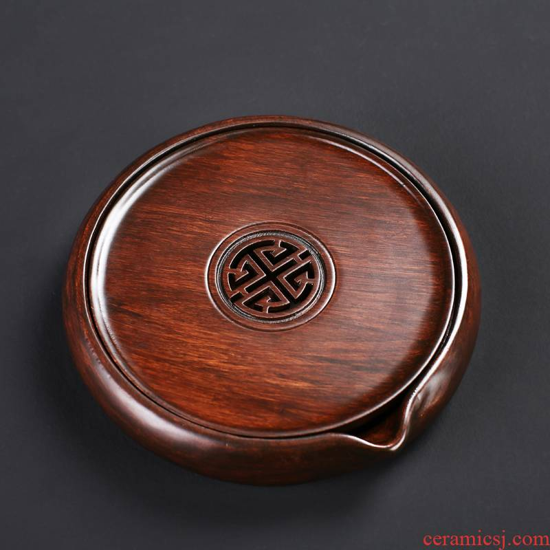 Ebony wood pot bearing dry mercifully machine base coasters violet arenaceous kettle pad supporting frame is a pot of tea accessories Japanese