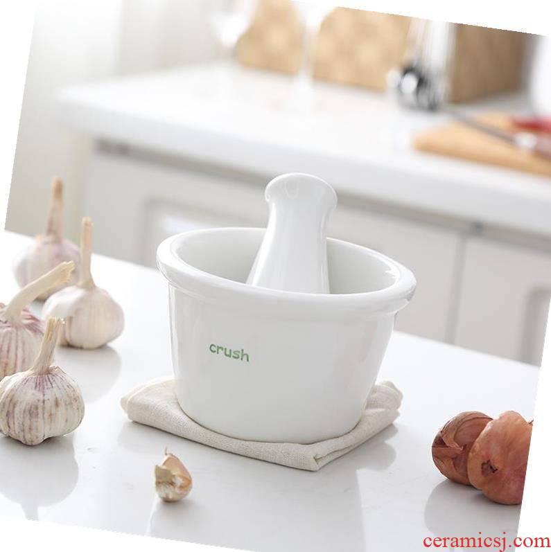 Asurgeon garlic wait ceramic grinding dishes garlic aniseed mashed garlic mill portable cylinder pressure of mortar