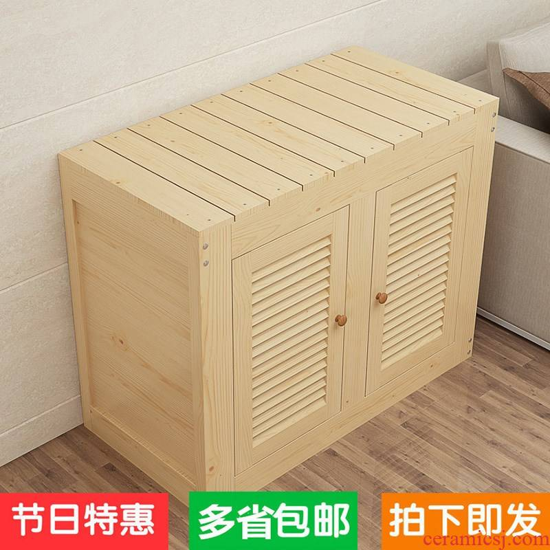 Solid wood fish tank bottom ark, pine grass cylinder tank chassis base shelf customized package mail aquarium mortise and tenon be waterproof paint