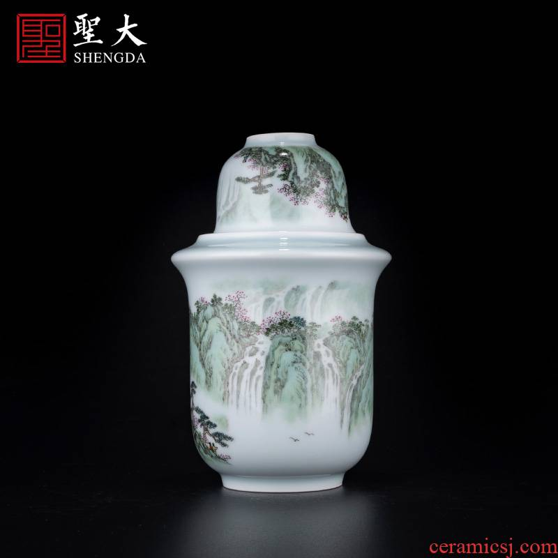 """Holy big ceramic new to see """"the concept of the hollow outraged"""" wine wine pot temperature hot hip household jingdezhen wine cup"""