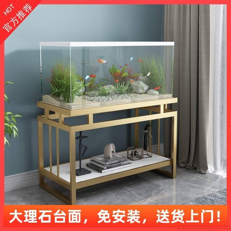 Tank base cabinet shelf Nordic customization, wrought iron home sitting room aquarium fish Tank porch table shelf