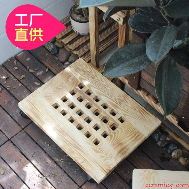 Flowers towing pulley of the flower pot tray wanxianglun home base rotation of square square