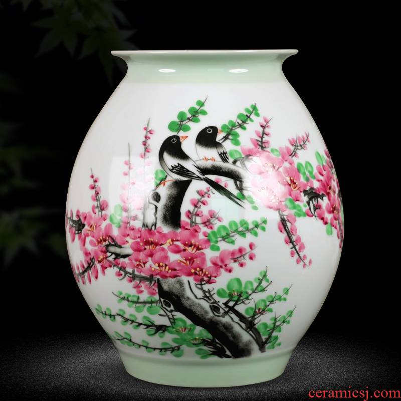 Jingdezhen ceramics hand - made vases, beaming home furnishing articles sitting room TV ark, decoration decoration arranging flowers