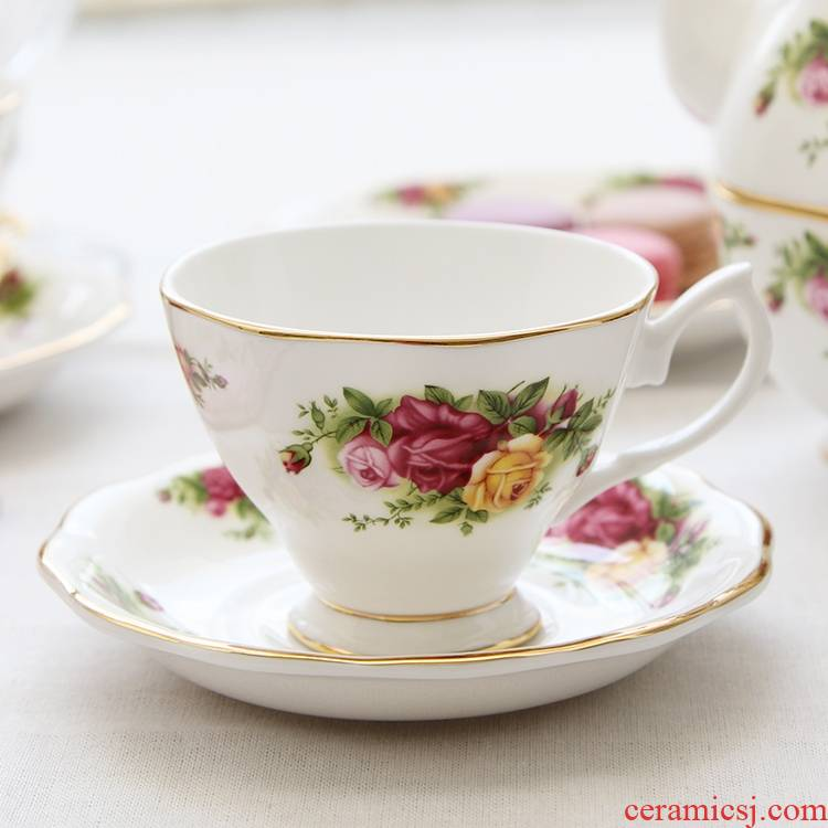 Qiao mu European ceramic ipads China English afternoon tea tea cup with a spoon, retro coffee cup disc package mail packages