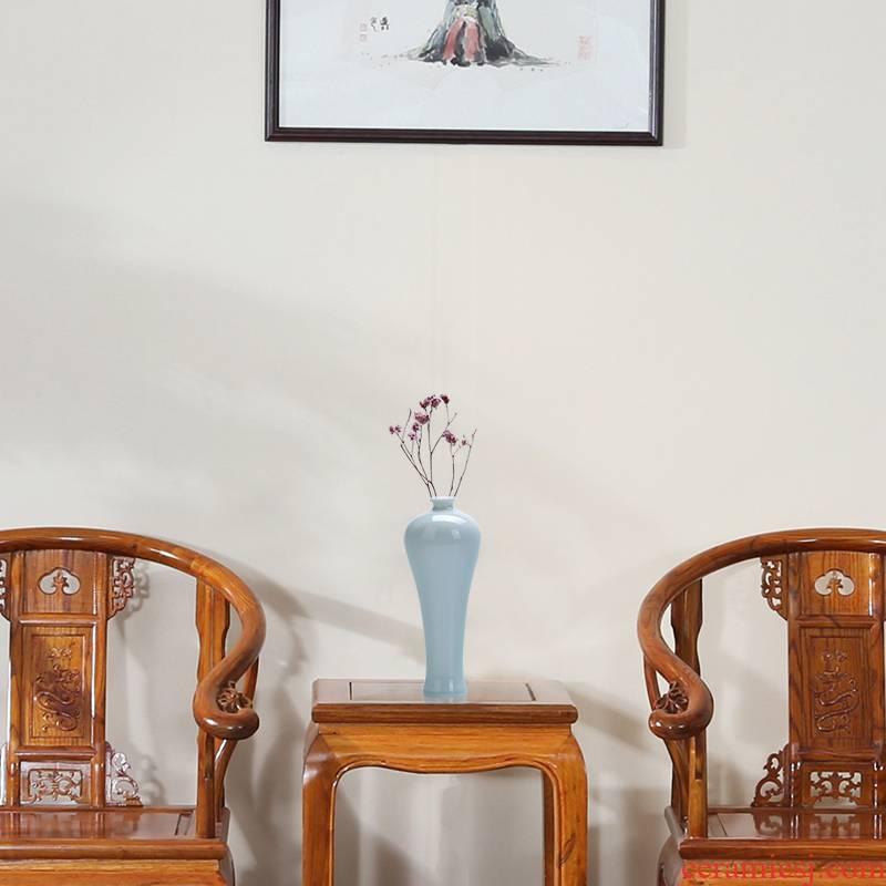 Zen floret bottle furnishing articles contracted ceramic flower implement creative hydroponic restoring ancient ways household living room TV cabinet decorative flower arrangement