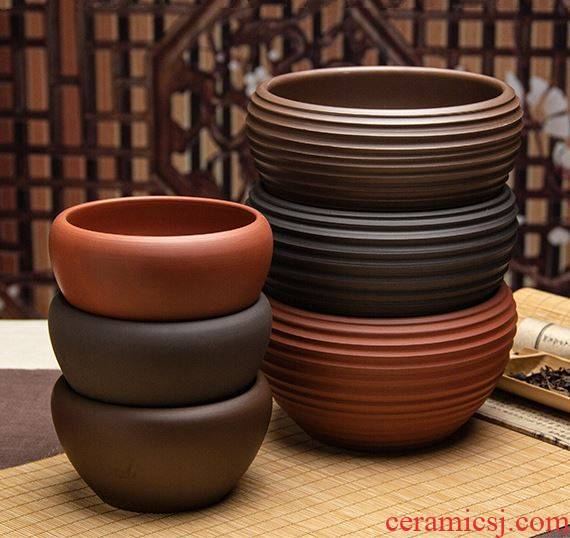 Much meat flowerpot big monitor nonporous basin ceramic flower pot lotus basin of the purple sand flowerpot bowl lotus copper butterfly orchid grass