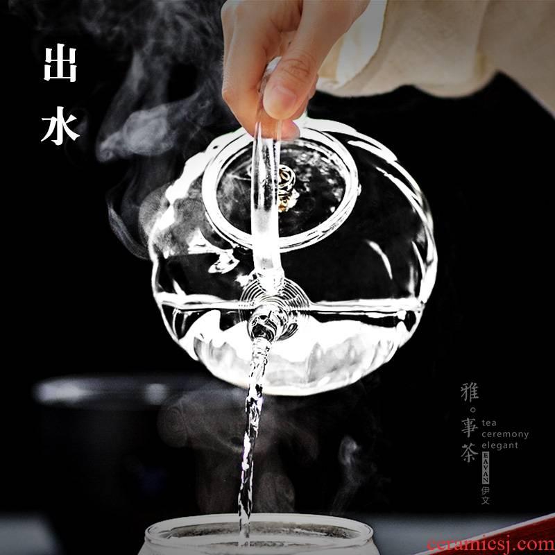 Qiao mu YWT glass boiling tea ware ceramic electric TaoLu glass teapot set water household heat the teapot