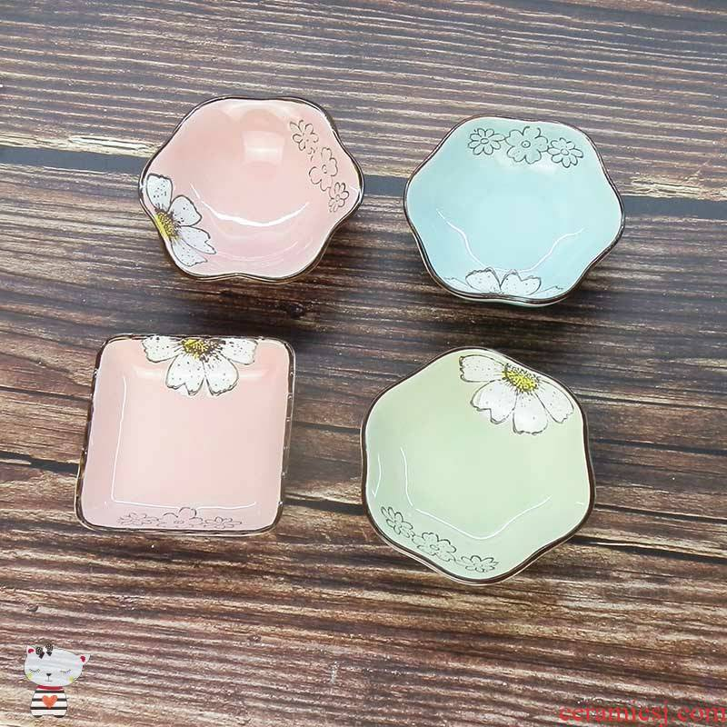 As household ceramics pickle dish flavor dish serving Japanese special - shaped plate dip ipads plate small dish dish