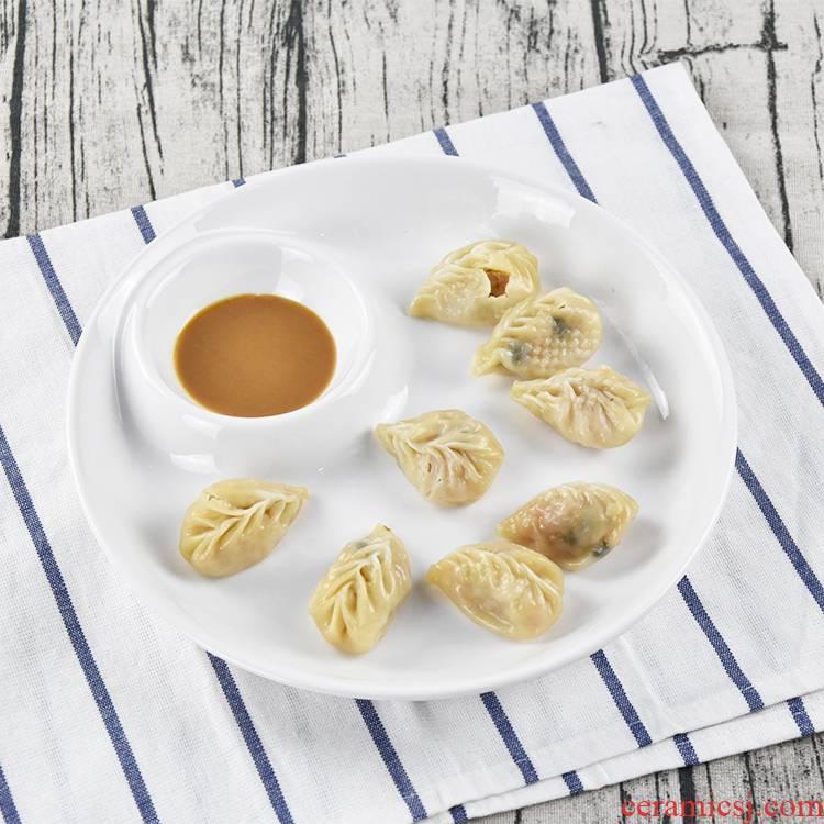 The ceramic creative hotel plate formula motherboard circular have case with vinegar household food dish dish water dumplings