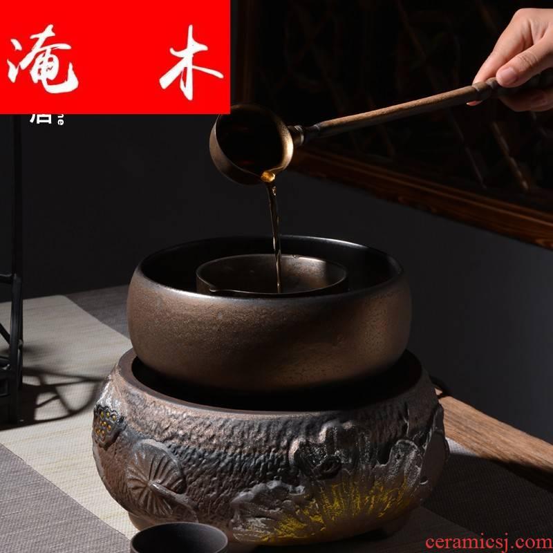 Submerged wood sho ten boiled tea ware ceramic company - thermal TaoLu boiling tea stove tea set coarse pottery modern black tea warm the teapot