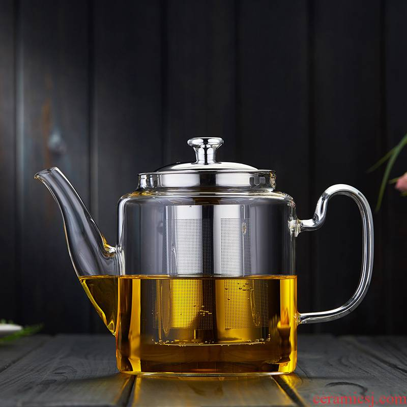 High temperature resistant glass bulbs single pot of household electricity TaoLu heat thickening filtration separation of tea flowers, green and red kung fu tea set