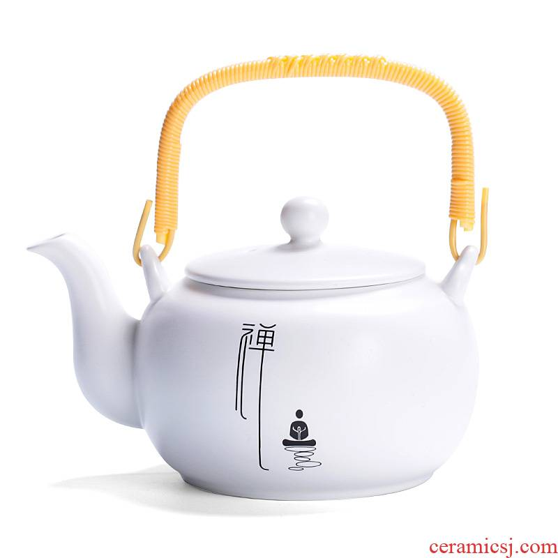 Ceramic household large teapot large - capacity single girder pot pot teapot CiHu hotel restaurant guest room tea kettle