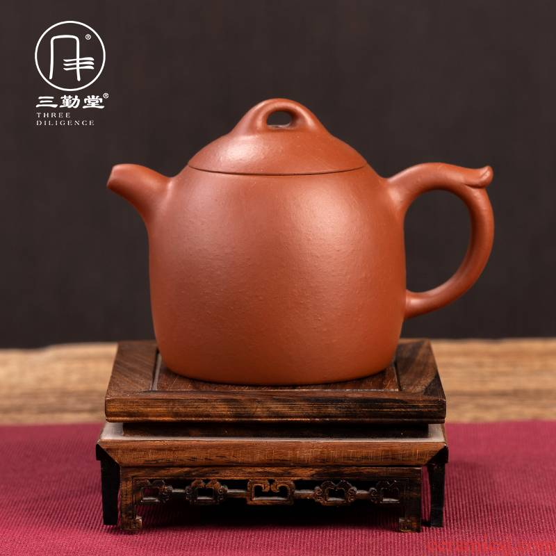 The three frequently yixing it authentic teapot with a suit pure manual undressed ore mud Qin Quan zhu pot