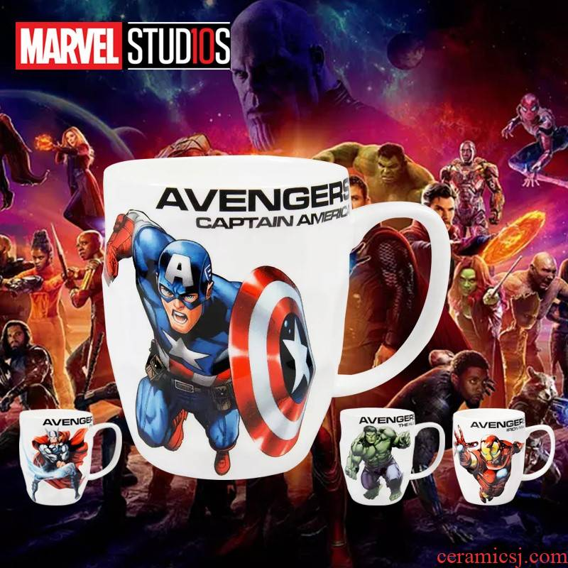 Diffuse wei ceramic keller avengers alliance, thor hulk household creative large - capacity water cup