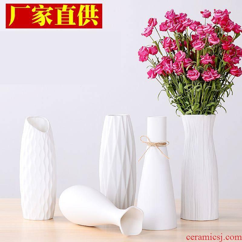 Resin acrylic plastic imitation ceramic vase and furnishing articles sitting room flower arranging Japanese ikebana plastic furnishing articles
