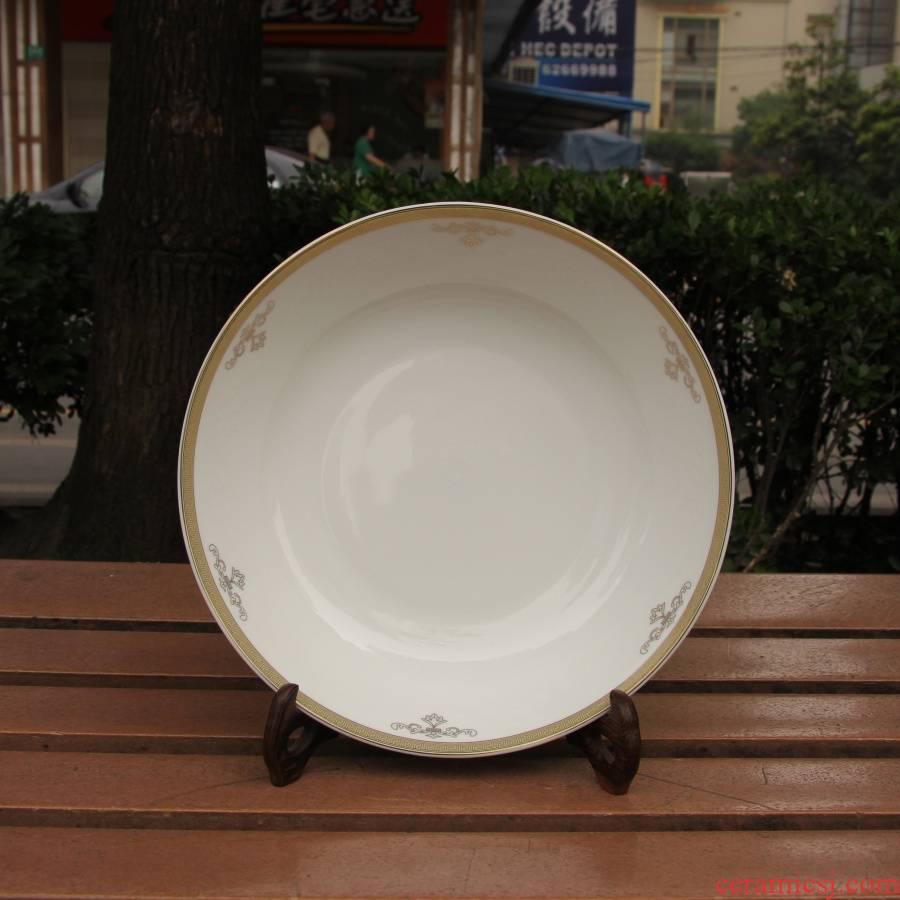 Qiao mu tangshan ipads China royal feast and 9 inches BaoPan stir - fry dish hyped plate of cold dish dish Jin Bianpan Korean ipads China