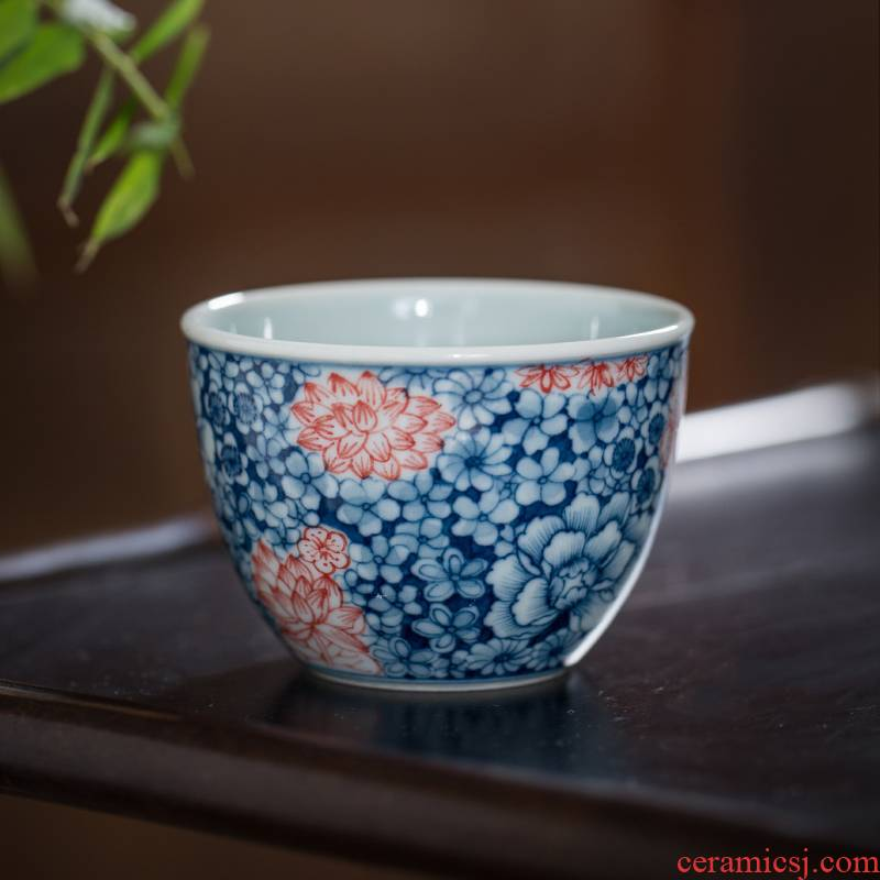 Owl up porcelain hand - made all the pattern ceramic tea set small cup the draw master kung fu tea cups cup single CPU