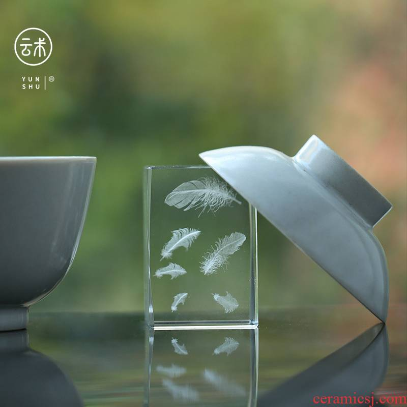 Chinese style crystal glass shelve the teapot GaiWanCha lid are it furnishing articles cover buy tea tea accessories