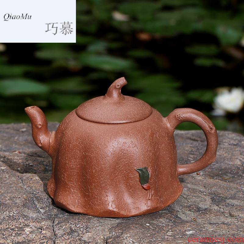 Qiao mu HM famous yixing pure manual it undressed ore mud household kung fu teapot tea kettle