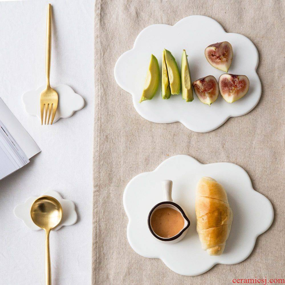 Creative cloud plate ceramic marble plates baiyun breakfast tray was sushi plate chopsticks all the western dishes