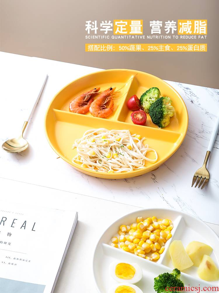 Lose weight plates policy one bowl of reduced fat means adult food tableware three creative household ceramics to Lose weight
