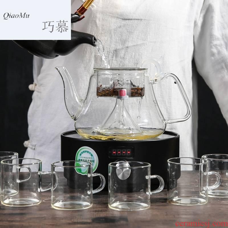 Qiao mu MG glass black tea pu 'er the boiled tea, the electric TaoLu boiled tea stove tea home health tea kettle warm tea