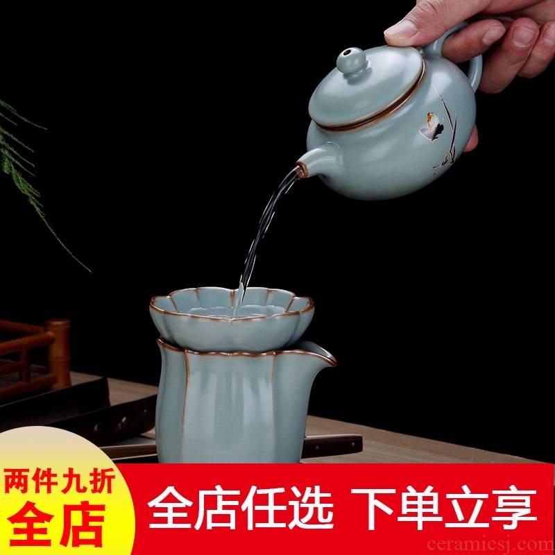 Your up crack kung fu teapot single pot of jingdezhen ceramic tea set domestic large capacity xi shi pot of filtering Chinese style