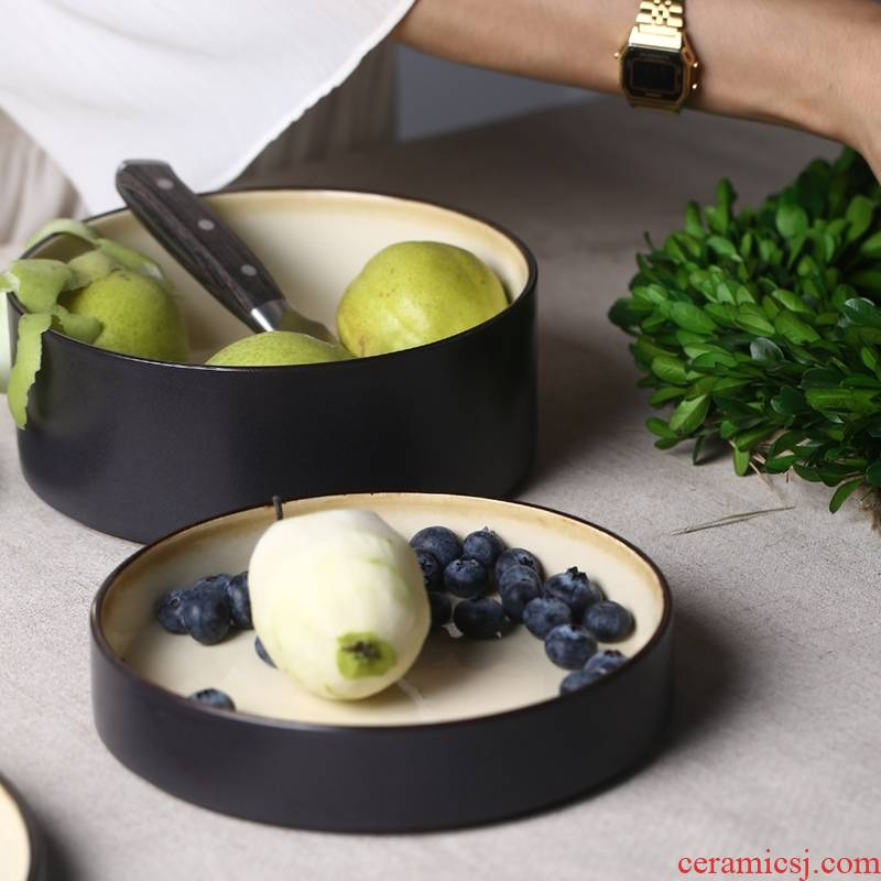 Qiao mu creative ceramic dinner plate household shallow ready - to - cook dish expressions using straight ipads plate western - style food dish dessert dish soup bowl restaurant