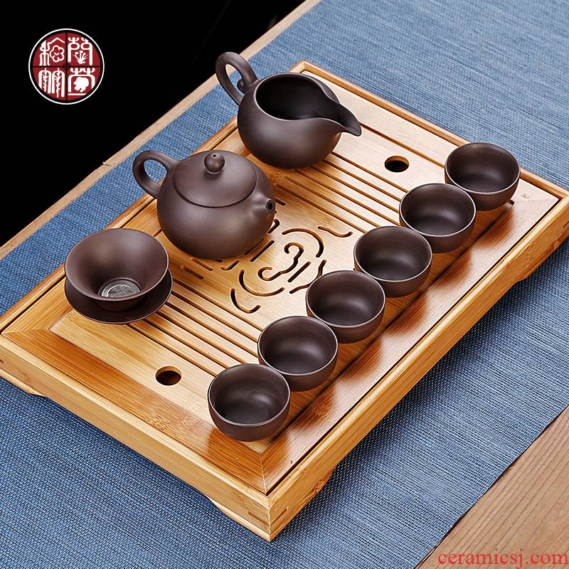 Purple sand tea set home sitting room is a small set of tea sets from the small tea tea sets are it teacup contracted